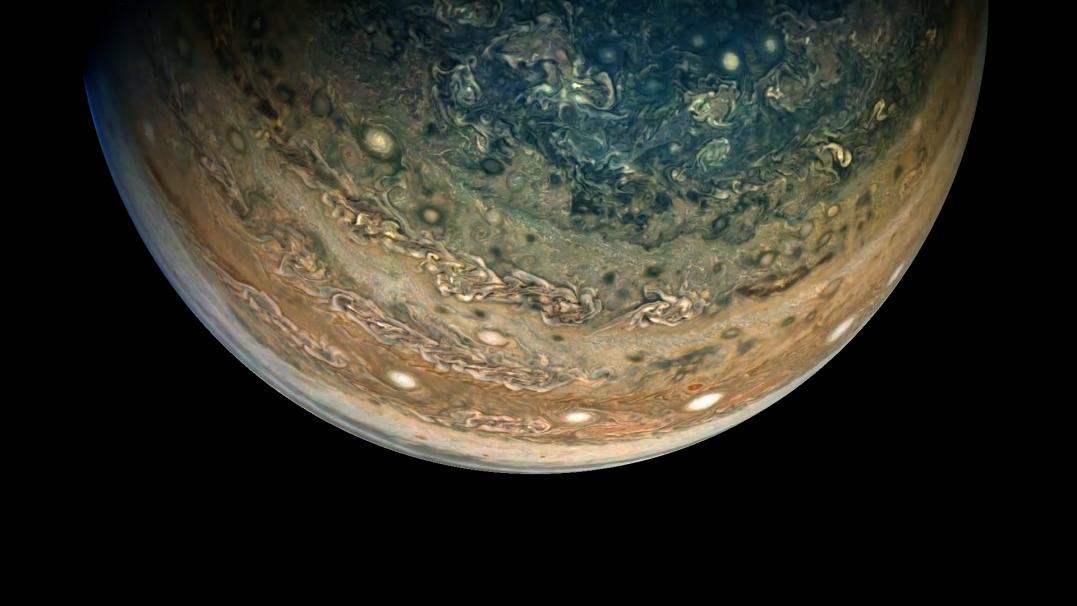 Malownicze widoki prosto z Jowisza