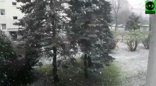 W kilku częściach kraju padał śnieg