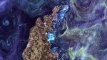 Fitoplankton na wodach Bałtyku w rejonie Gotlandii, 13.07.2005 (NASA's Goddard Space Flight Center/USGS)