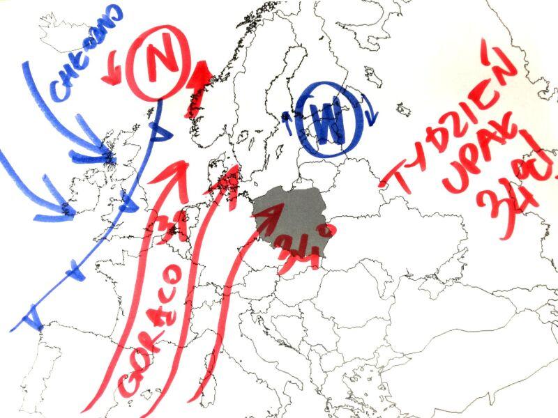 Do Polski napływa gorące powietrze z Afryki